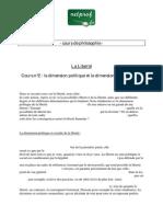 PHILOSOPHIE Terminale LIBERTE2 Dimension Politique Sociale Metaphysique