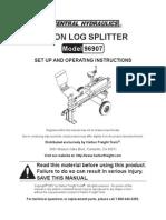 Log Splitter Harbor Freight 96907