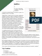 Marx. a Chamada Acumulação Primitiva - Resumo 1