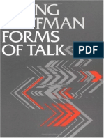 Forms of Talk