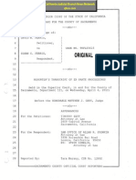 Judge Matthew Gary Caught on Transcript Unaware of Court Reporter - Illegal Summary Denial of Ex Parte Motion for Illegal Child Abduction - Collusion With Judge Pro Tem Scott Buchanan Partner Tim Zeff - Susan Ferris Case Sacramento Superior Court