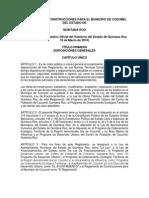 Reglamento de Construcciones Muncipio de Cozumel