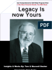Our Legacy Is Now Yours (Cover image won't upload. Book Is Amazing)