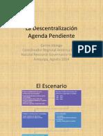 UNSA Agosto 2014 Descentralizacion