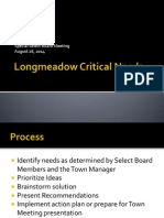 Longmeadow Critical Needs