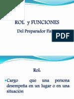 Roles y Funciones Reparador Fisico