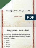 Sistem Ejaan Dalam Hikayat Abdullah