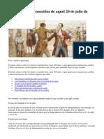 Los Detalles Desconocidos de Aquel 20 de Julio de 1810