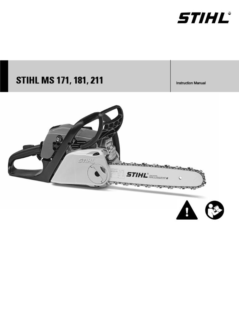 stihl ms171 181 211 service manual
