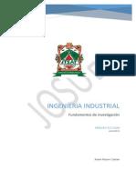 Origen, Evolucion y Estado Actual de La Ing, Industrial.