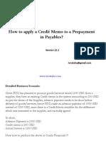 Oracle Adjust Prepayment