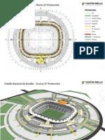 Mapa Arquitetonico - Estadio Nacional