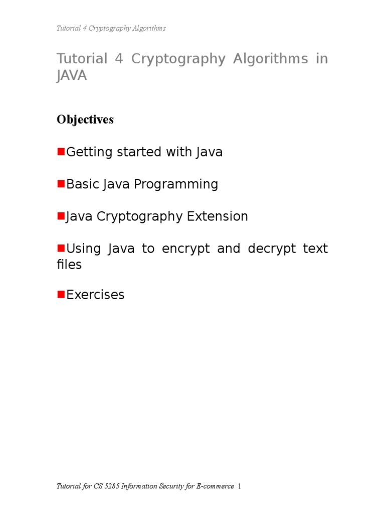 DES Avec Java | Cryptography | Encryption