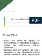 Teorema Da Impossibilidade de Arrow