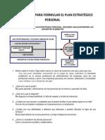 Cuestionario Corto Para Formular El Plan Estratégico Personal