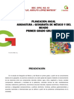 Plan Anual de Geografia 2014-2015