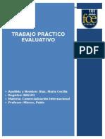 tp evaluativo, segundo parcial, comercializacion internacional+