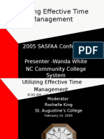 Utilizing Effective Time Management