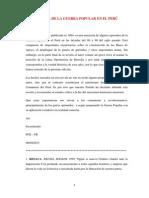 Novela de La Guerra Popular en El Perú