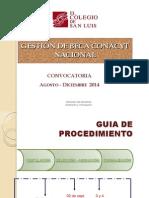 Presentación GESTIÓN BECA CONACYT Agosto-diciembre 2014