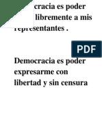 Democracia - Para Acrostico