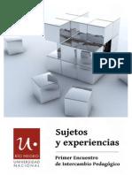Libro Sujetos y Experiencias - Pedagogia