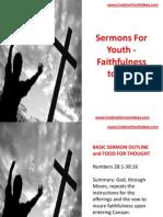 Sermons for Youth - Faithfulness to God