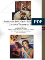 Restaurant Food Order Take Out in Downtown Vancouver British Columbia