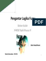 Pengantar Logika Fuzzy