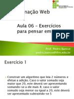 Aula 062342- Exercicios Para Pensar Em PHP