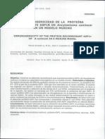 Inmunogenicidad de La Proteína Recombinante ASP1R