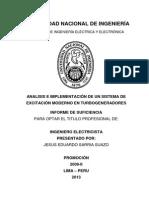 Análisis e implementación de un sistema de excitación moderno en turbogeneradores