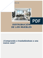 Distribución de los muebles