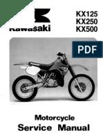 Kawasaki Kx500 Service Manual Repair 1988-2004 Kx 500