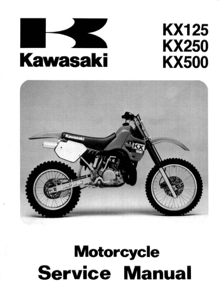 kawasaki kx500 service manual repair 1988 2004 kx 500 carburetor rh scribd com 1992 KX250 Parts 1992 Kawasaki KX250