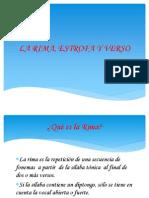 La Rima, Estrofa y Verso