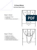 zone offense quick hitters- flying v - 2 and 3 pointer