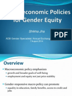 4 Shikha_Macroeconomic Policies for Gender Equity