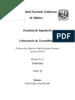 Practica 7 Temperatura Lab Termofluidos Cobos Lopez Cesar Ricardo Gpo 10