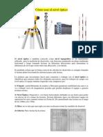 Como Usar El Nivel Optico 2014 II-sesion 01