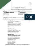 DTA-WL-091-14 CMC Ingenieria y Construccion APR Pureo ABMA-105