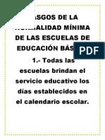 Rasgos de La Normalidad Mínima de Las Escuelas de Educación Básica