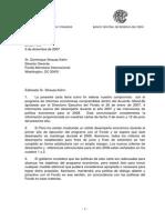 Carta de Intencion FMI Diciembre 2007