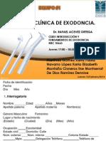 Historia Clínica de Exodoncia