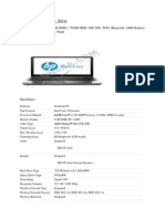 Spesifikasi Permintaan Printer