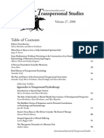 Brief History Transpersonal Psychology