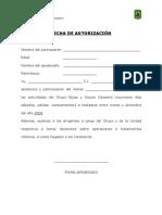 Salidas - Autorizacion Anual