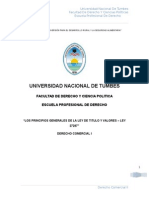 grupo N° 16 PRINCIPIOS GENERALES DE LA LEY DE TITUL Y VALORES