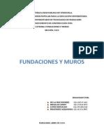 Fundaciones y Muros (Muros de Contención).