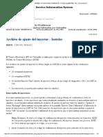 Archivo de Ajuste Del Inyector - Instalar